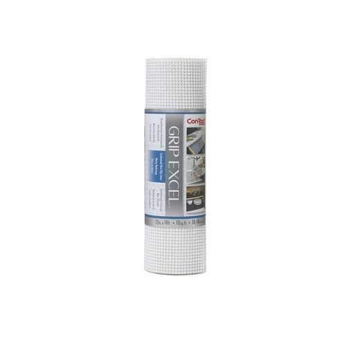 Con-Tact Brand Grip Excel Grip Non-Adhesive Shelf Liner- White (12''x 10') - image 1 of 4