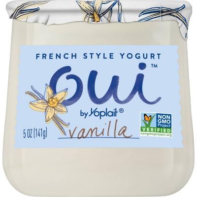 Oui by Yoplait Vanilla Flavored French Style Yogurt - 5oz
