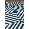 Navy Indoor/Outdoor Geometric Rug - image 3 of 4