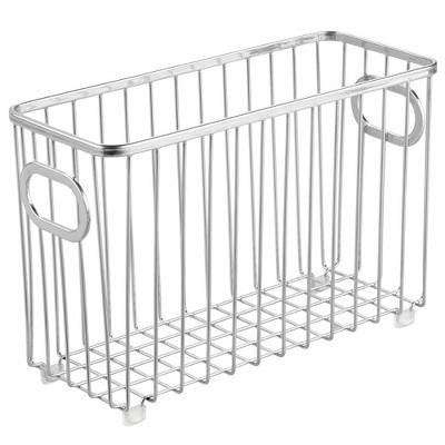 mDesign Metal Bathroom Storage Organizer Basket Bin, 4 Pack