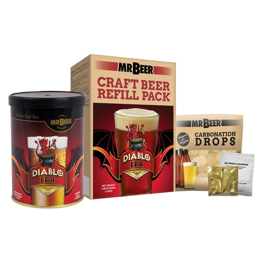 Image of Mr. Beer Diablo Ipa Craft Beer Making Refill Kit, Multi-Colored