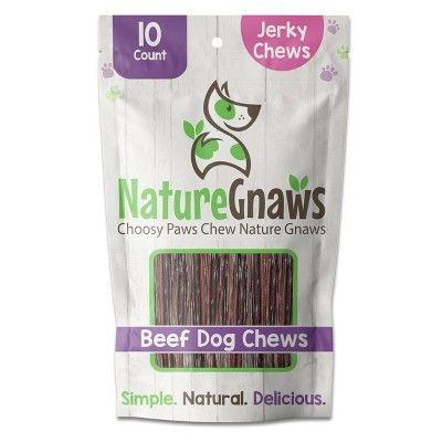 "Nature Gnaws Beef Jerky Sticks 5-6"" Dog Treats - 10ct"