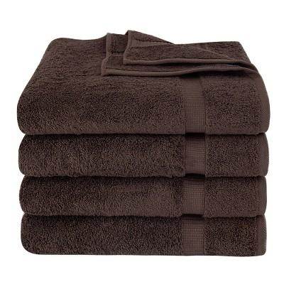 4pc Villa Bath Towel Set Brown - Royal Turkish Towel