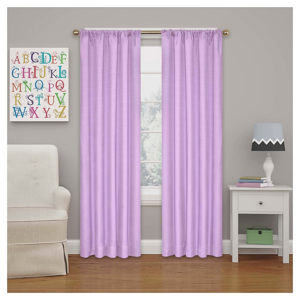 Kendall Blackout Thermaback Curtain Panel Light Purple (42