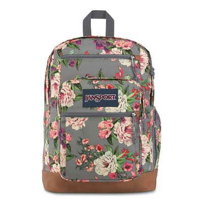 """JanSport 17.5"""" Cool Student Backpack - Gray Bouquet"""