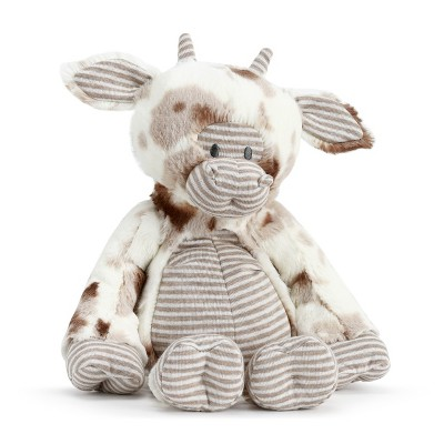 DEMDACO Barnyard Cow Plush Brown
