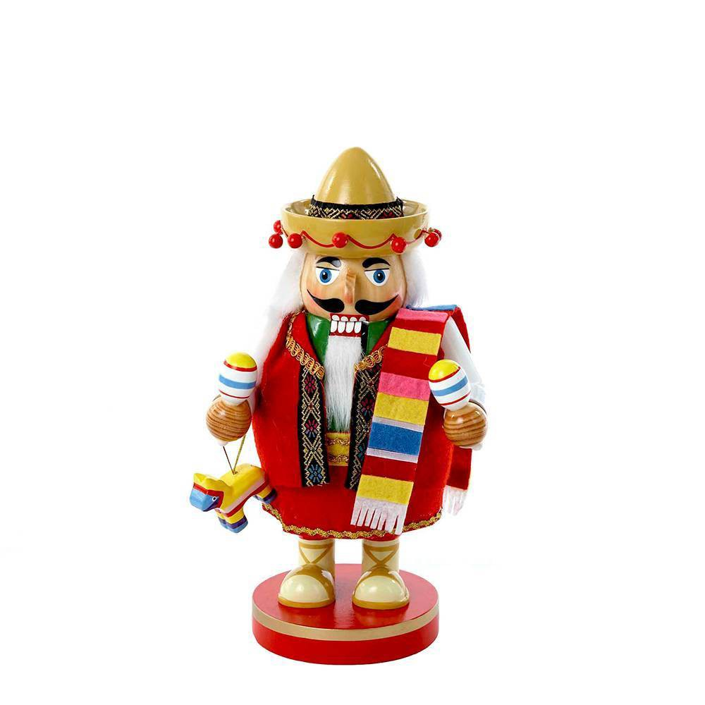 "Image of ""10.25"""" Kurt Adler Chubby Mexican Tablepiece Nutcracker Decorative Sculpture"""