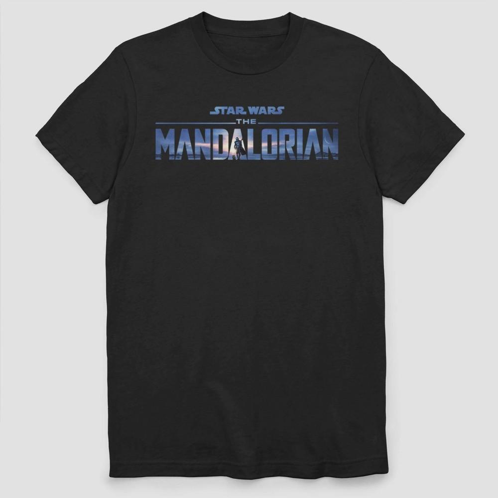 Men 39 S Star Wars The Mandalorian Season 2 Logo Short Sleeve Crewneck T Shirt Black Xl