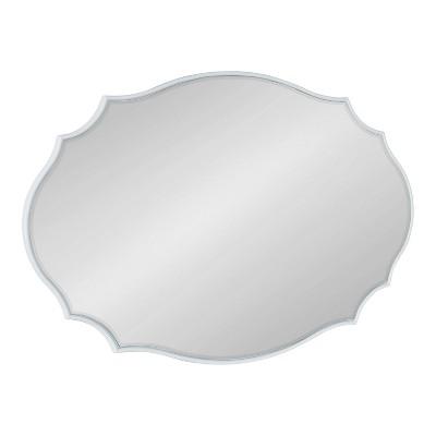 "24"" x 36"" Leanna Scallop Wall Mirror White - Kate & Laurel All Things Decor"