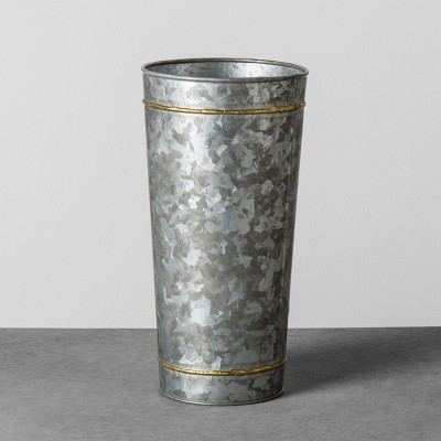 Galvanized Metal Vase with Flower Frogger - Medium - Hearth & Hand™ with Magnolia