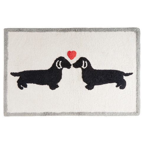 Two Dogs Heart Bath Rug 20x30 Quot Natural Target
