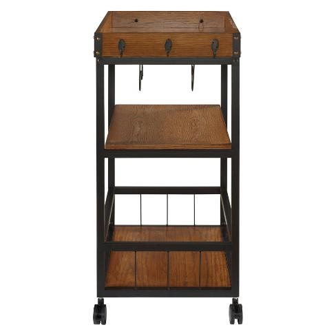 Austin Kitchen Cart Metal Wood Linon Target