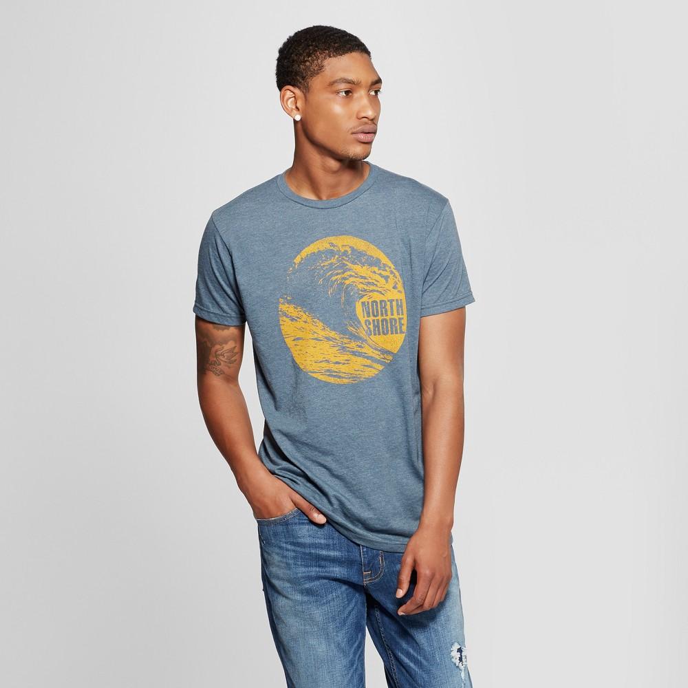 Men's Short Sleeve North Shore Graphic T-Shirt - Awake Navy S, Blue