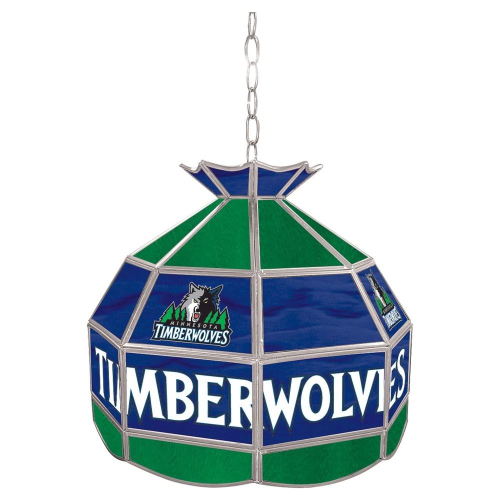 Minnesota Timberwolves Tiffany Style Lamp - 16 inch