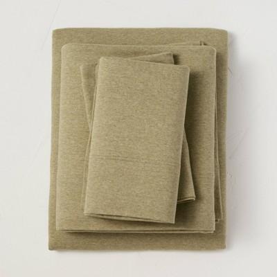 King Jersey Solid Sheet Set Moss Green - Casaluna™