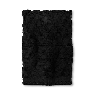 Triangle Embossed Hand Towel Black - Threshold™