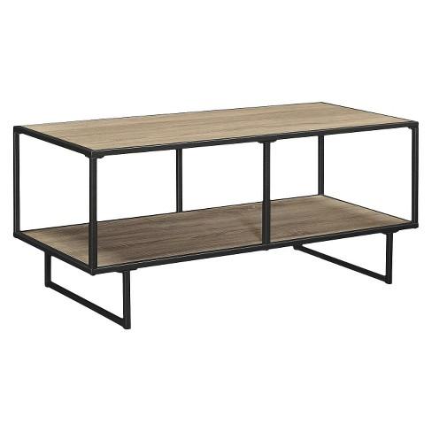 Bainbridge 42 Tv Stand Coffee Table With Metal Frame Sonoma Oak