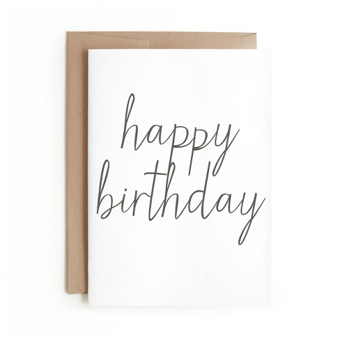 Minted Happy Birthday Card Target