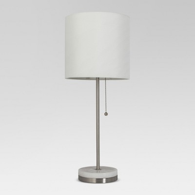 Hayes Marble Base Stick Lamp Pewter Includes Energy Efficient Light Bulb - Project 62™