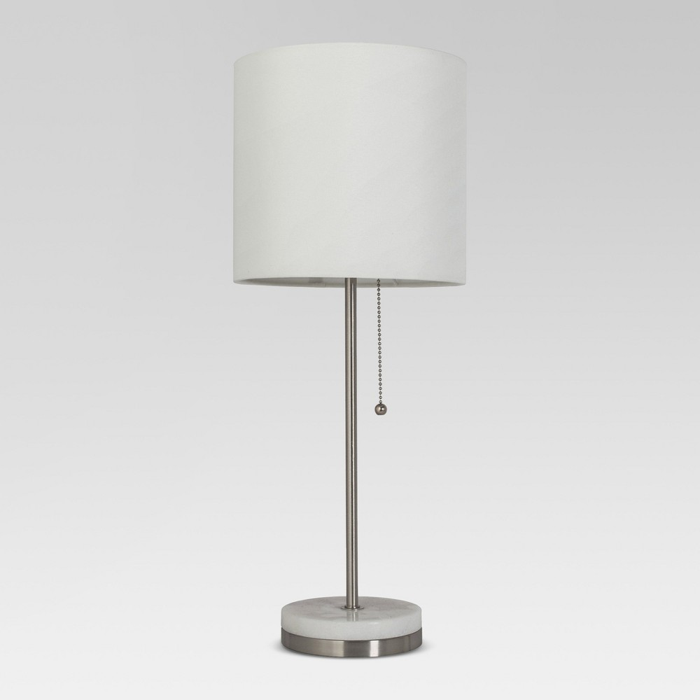 Hayes Marble Base Stick Lamp Pewter Includes Led Light Bulb Project 62 8482