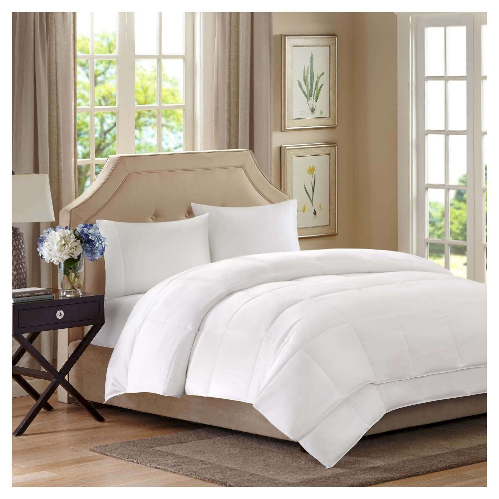Image of Canton All Season 2 Layer Down Alternative Comforter (Full/Queen) White