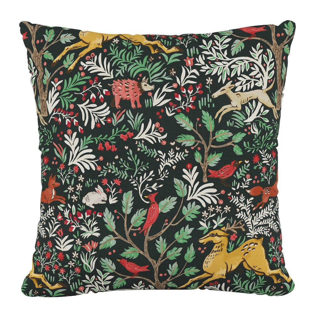 "Image of ""18""""X18""""Polyester Square Pillow in Frolic Evergreen - Skyline Furniture"""
