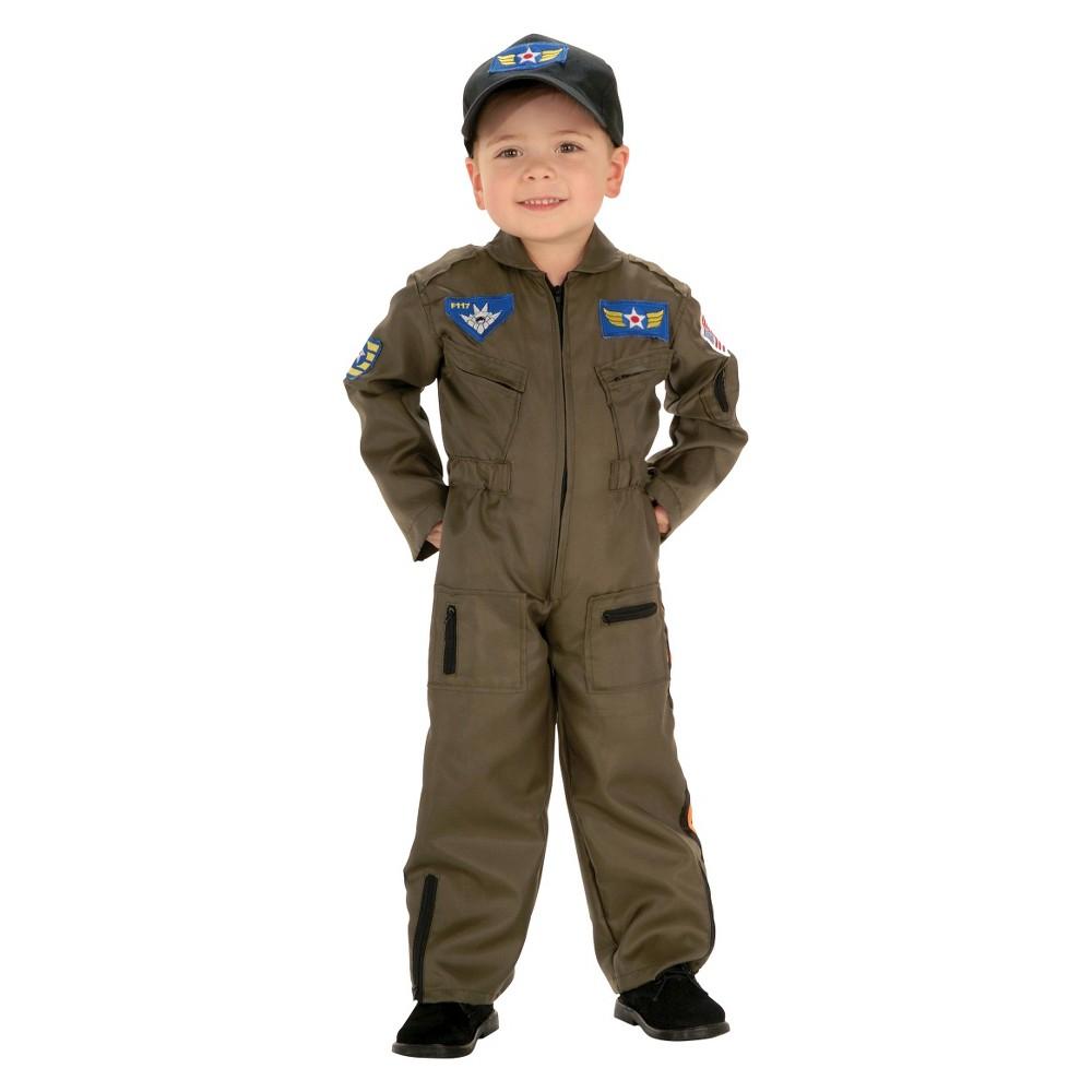 Halloween Kids' Jr. Air Force Pilot Costume, Men's, Size: 8