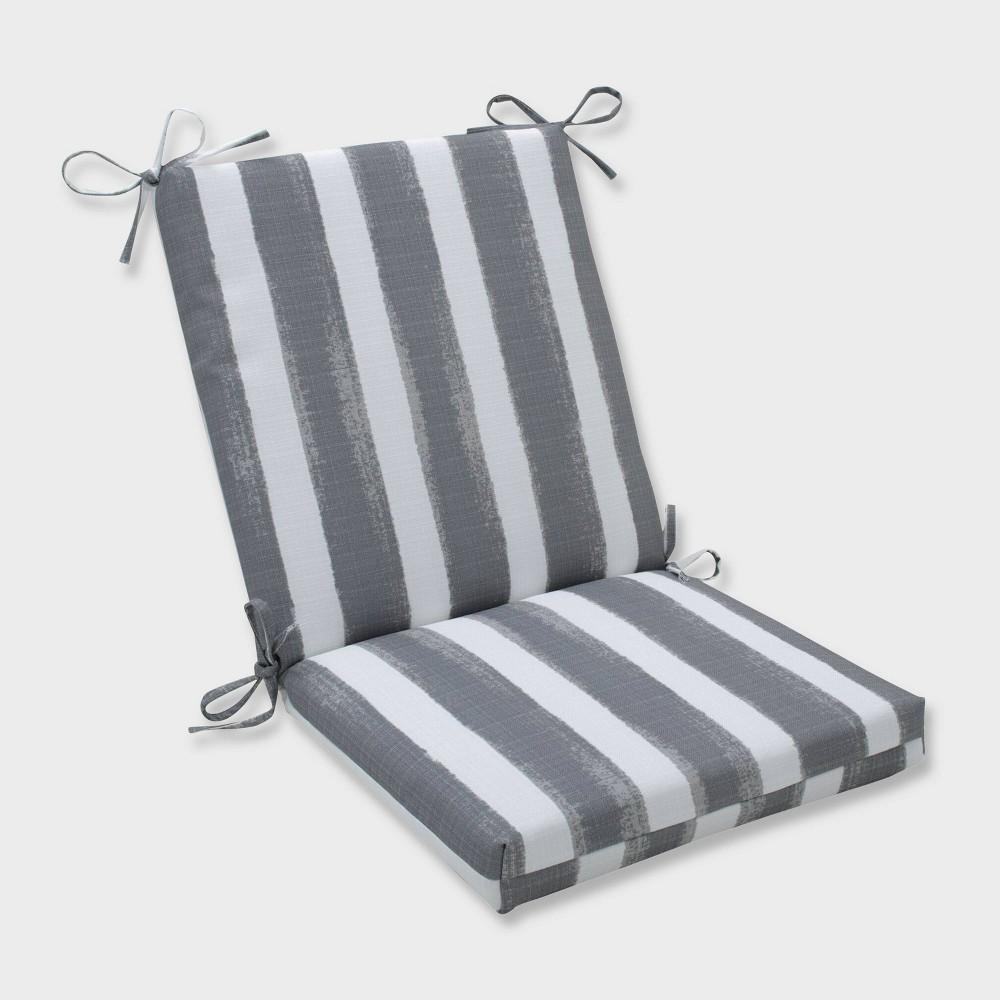 Nico Sea Salt Squared Corners Outdoor Chair Cushion Gray - Pillow Perfect