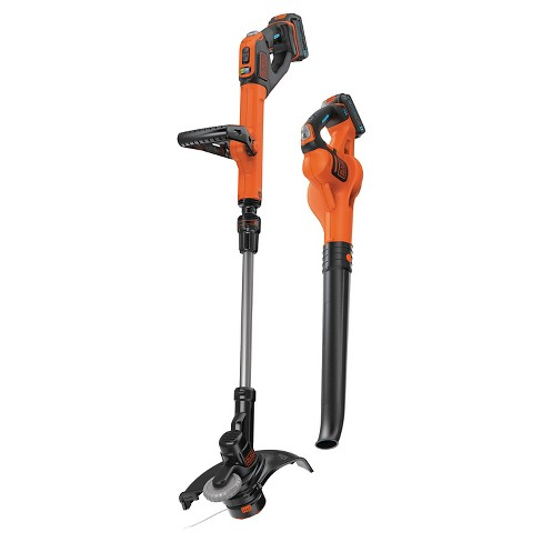 BLACK+DECKER 20V MAX String Trimmer and Sweeper Combo Kit - Orange - image 1 of 10