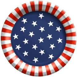 """20ct 8.5"""" Stars and Stripes Dinner Plate - Sun Squad™"""