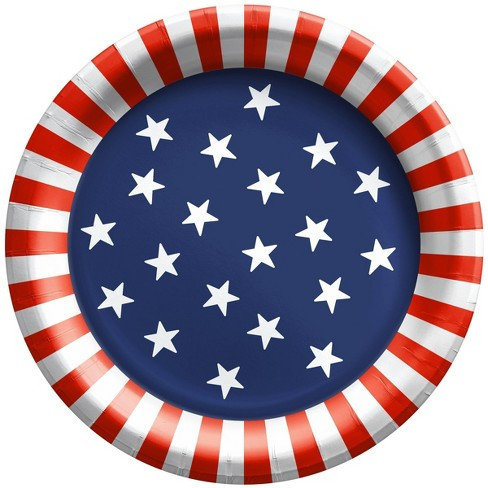 """20ct 8.5"""" Stars and Stripes Dinner Plate - Sun Squad™ - image 1 of 1"""