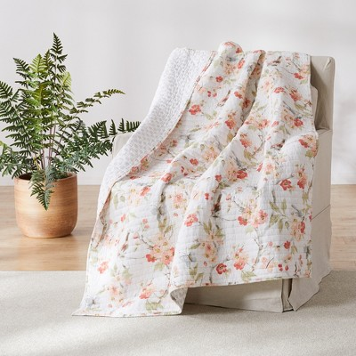 Pippa Floral Quilted Throw - Levtex Home