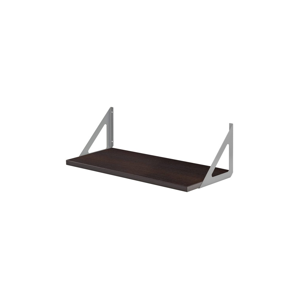 "Image of ""23.5"""" x 10"""" Lite Shelf Espresso - Dolle Shelving, Brown"""