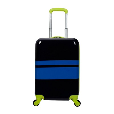 """Crckt 21"""" Kids' Hardside Carry On Spinner Suitcase - Multi Stripe"""