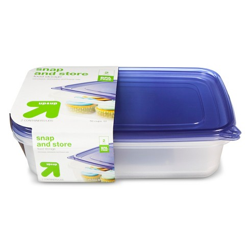 Snap And Store Large Rectangle Food Storage Container 2ct 128oz Upup Target