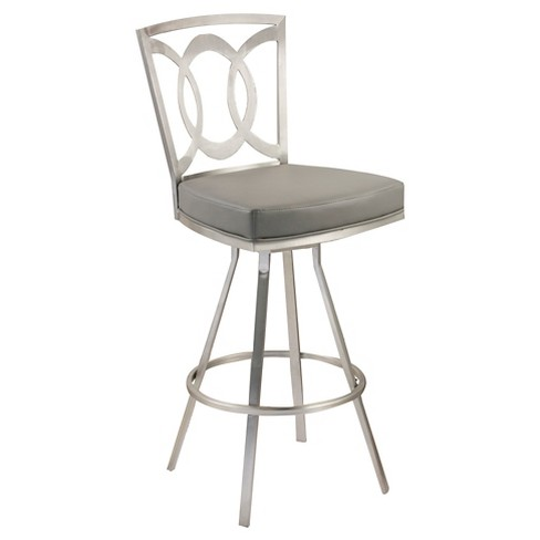 "Drake 30"" Barstool Steel/Gray - Armen Living - image 1 of 2"