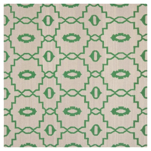 Mona Dhurry Rug - Ivory/Green - (6'x6' Square) - Safavieh - image 1 of 2