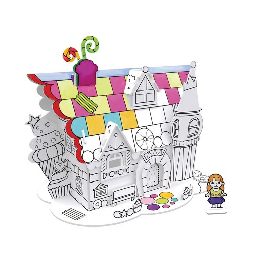Cubic Fun Dessert Play House 3D Coloring Puzzle 23pc image number null