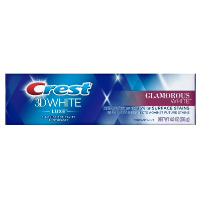 Toothpaste: Crest 3D White Luxe