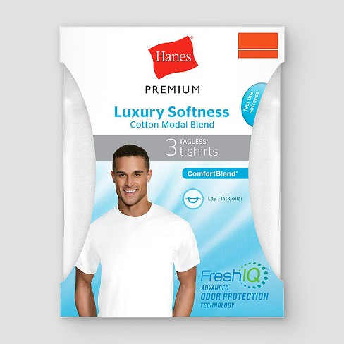 b1a0f95d14b0 Hanes Premium® Men's Cotton Modal Crew Undershirt 3pk : Target