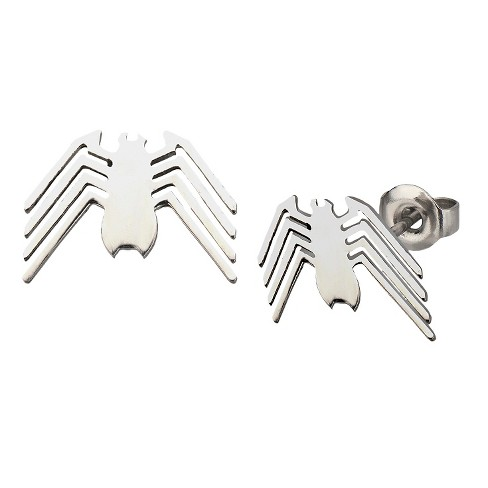 Marvel® Spider-Man Logo Cut Out Earring Studs - Silver - image 1 of 1