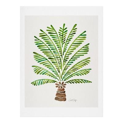 16  x 20  Cat Coquillette Bali Palm Tree Wall Art Print Green - society6
