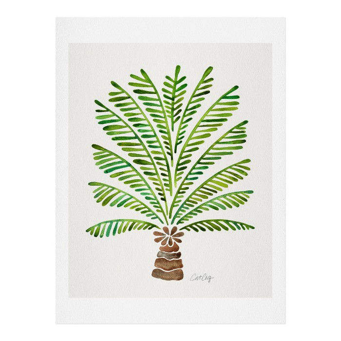 Cat Coquillette Bali Palm Tree Wall Art Print Green - society6 - image 1 of 2
