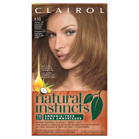Clairol Natural Instincts Ammonia-Free Hair Color Light Golden Red - image 1 of 4