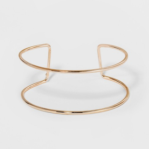 Double Wire Row Bangle - A New Day™ Rose Gold - image 1 of 1