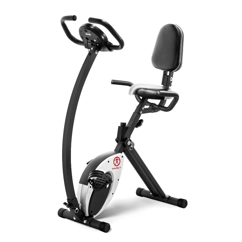 Marcy Foldable Exercise Bike with High Back Seat (NS-653)