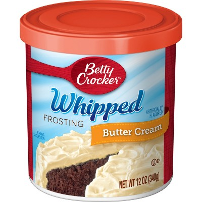 Frosting & Decorations: Betty Crocker Whipped Butter Cream Frosting
