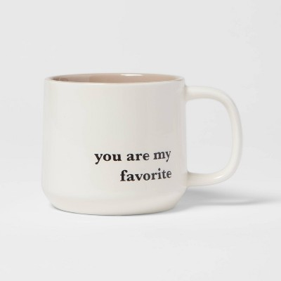 15oz Stoneware You Are My Favorite Mug - Threshold™