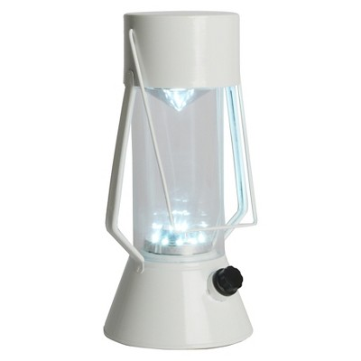 LED Outdoor Metal Lantern - White - Room Essentials™