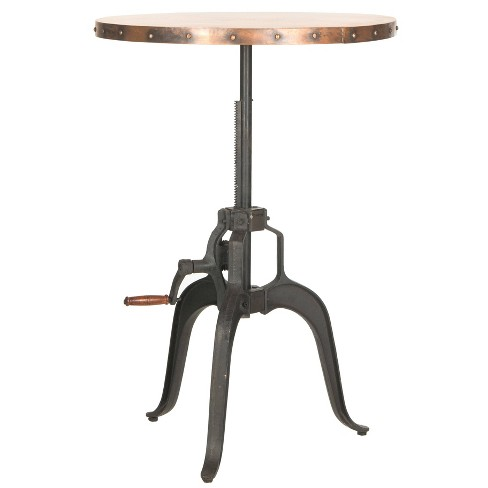 Copper Dining Table Metal/Black - Safavieh - image 1 of 4